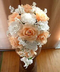 Brautstrauss Hochzeitsstrauss Champagner Weiss Blumenstrauss Hochzeit