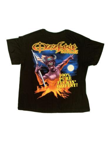 RARE Vintage 2003 Ozzfest Concert T-Shirt 100% PUR