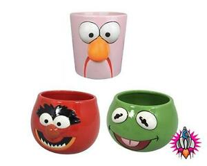 NEW MUPPETS SHOW PLANTERS PLANT FLOWER POTS NEW OFFICIAL KERMIT ANIMAL BEAKER
