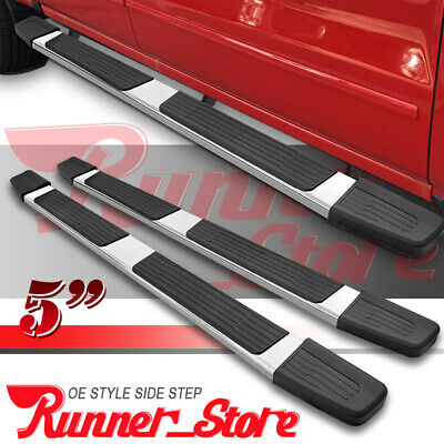 "3/""Chrome Running Board Side Step Nerf Bar for 09-14 Ford F150 Crew//SuperCrew Cab"