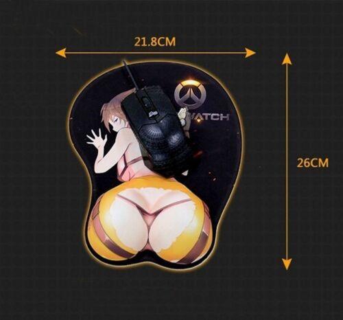 Anime Tokisaki Kurumi DATE A LIVE 3D Buttock Silicone Mouse Mat Pad Wrist Rest