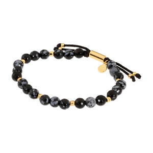 Gorjana Power Gemstone Snowflake Obsidian Bracelet For Courage 17120533GPKG