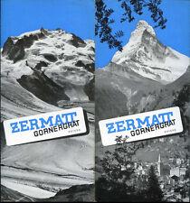 Prospectus-Tourisme : ZERMATT, Gornergrat, Suisse. Travel Ephemera