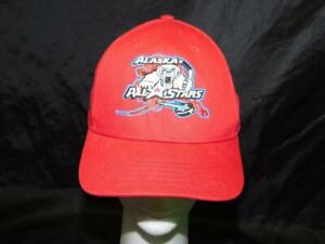 Alaska-All-Stars-Hockey-Hat-Red-Youth-Boys-New-Era-9Forty-Polar-Bear-Logo-Kids