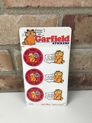 Garfield Stickers Sheet United Feature Syndicate Vintage New Dead Stock