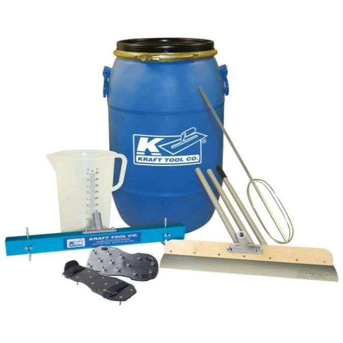 Kraft Tool Self-Leveling Compound Tool Kit for Concrete Restoration