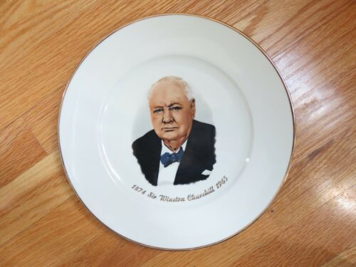 "1874 SIR WINSTON CHURCHILL 1965 10"" Plate Made in Western Germany"