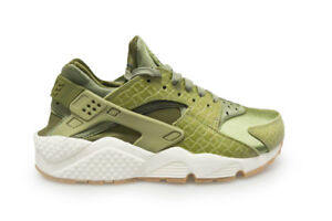 DONNA NIKE AIR HUARACHE RUN PRM 683818300 VERDE BIANCO toffee scarpe