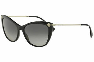 Brand New VERSACE Sunglasses VE 4345B GB1//11 Black Gold// Grey For Women