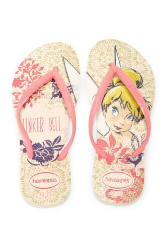 Girl/'s Havaianas Size 2 Youth Tinker Bell Disney Flip Flops Shoes Flip Flop