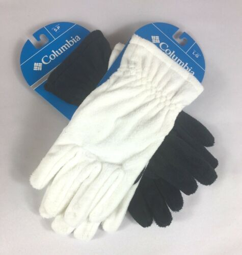 M L NEW! Columbia Women/'s Blustery Summit Gloves In Black /& White Size S