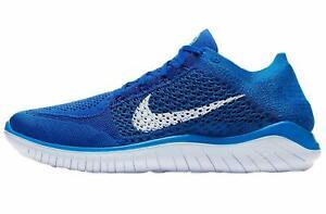 Nuevo Para Hombre Nike Free rn Flyknit 2018 Juego Real Azul ...
