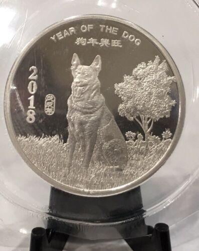 2018 Chinese Lunar Calendar 1//2 Oz Year of the Dog .999 Silver BU