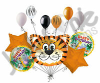 11 Pc Tickled Tiger Happy Birthday Jungle Balloon Bouquet Decoration Safari