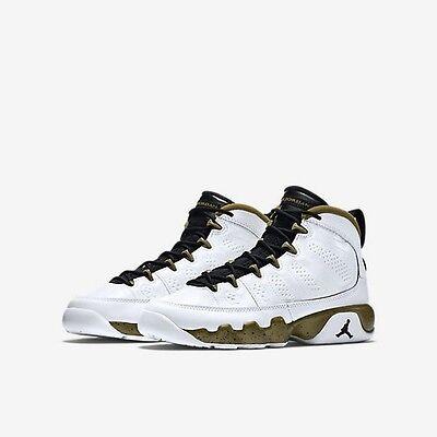 Air Jordan 9 IX Retro  White Black Militia Green 'Statue'  302370 109 Size 15