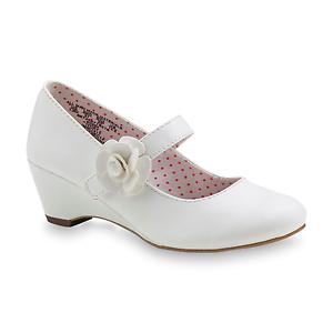 New Girls WonderKids Ivory White Mary Jane Shoes  57C lj
