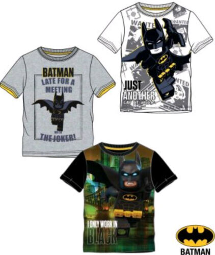 LEGO BATMAN BOYS KIDS T SHIRT 4-10 YEARS