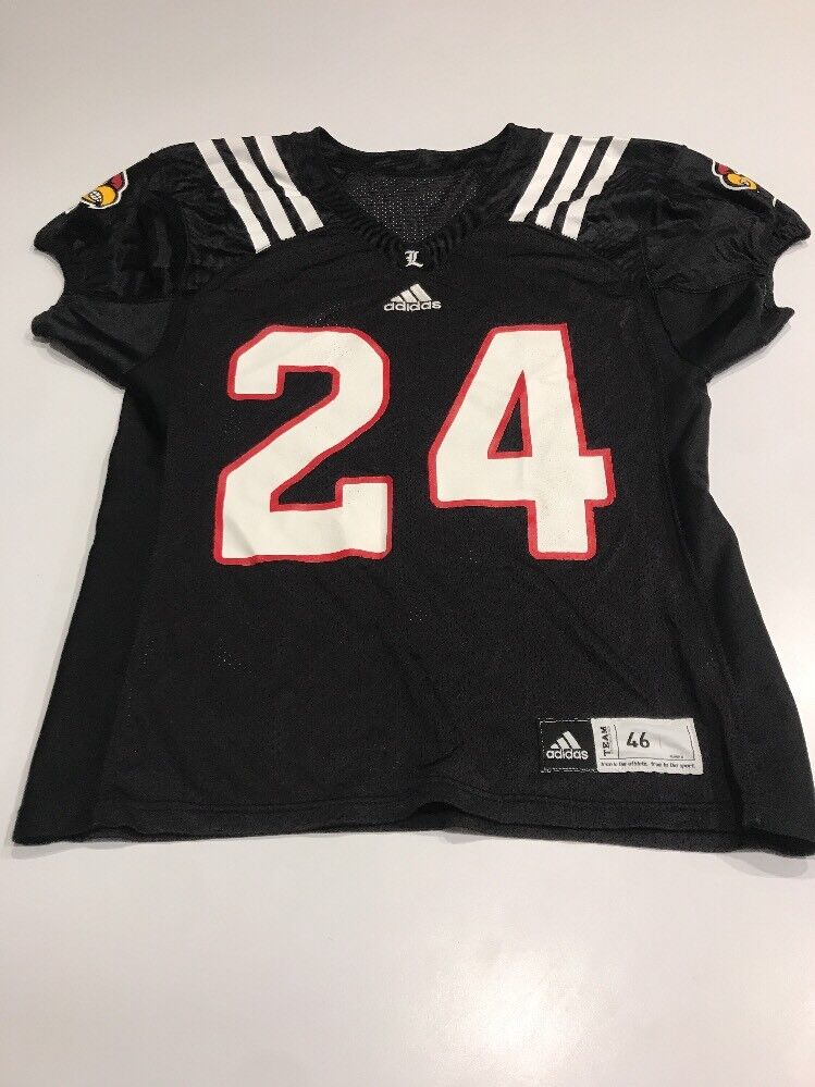 sports shoes ac03b 7426a Game Worn Worn Worn Used Louisville Cardinals UL Football Jersey Adidas  Size 46 e91843