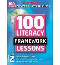 1 of 1 - 100 New Literacy Framework Lessons for Year 2 with CD-Rom by Eileen Jones (Mixed