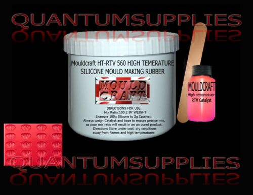 Mouldcraft HT-RTV 560 Shore A60 510g HIGH TEMPERATURE SILICONE MOULD MAKING KIT