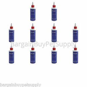 Lot-of-10-Wahl-Clipper-Trimmer-Blade-Oil-4-oz-3311-Bottles