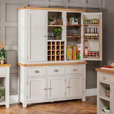 Downton Grey Triple Kitchen Larder Pantry Wine Cupboard Dt37 Dt67 Ebay