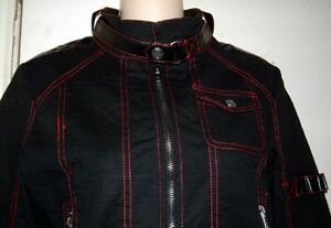 nero Zip Front Fallout Service Jacket raro Lip L xYq7wEggF