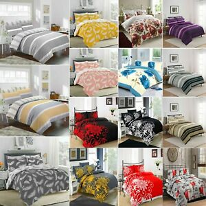 Duvet Cover with Pillow Case Quilt Cover Bedding Set Single Double King /& S King