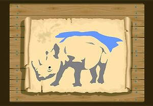 Rhino-Facing-to-the-left-Stencil-350-micron-Mylar-not-thin-stuff-Rhino02