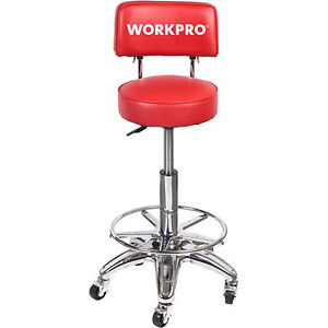 Image Is Loading Hydraulic Stool Wheels Adjustable High Chair Work Shop