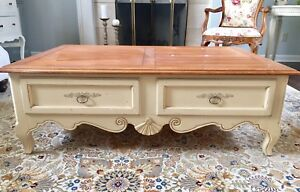 Image Is Loading Ethan Allen French Country Cottage Coffee Table Birch