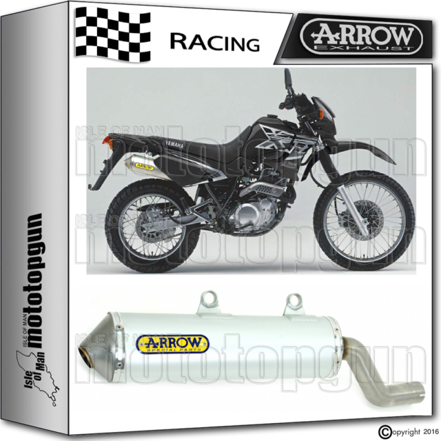 ARROW TUBO DE ESCAPE ENDURO ALUMILITE ALUMINIO RACE YAMAHA XT 600 E 2001 01