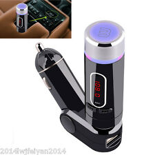 12V Wireless Bluetooth Car Kit FM Transmitter MP3 Radio Player USB Port & Remote