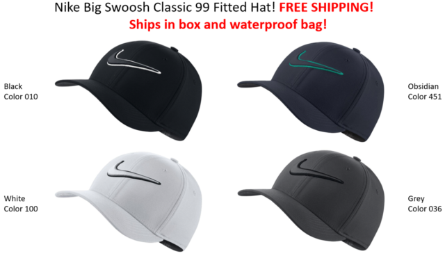 e238541ebd43f SHIPS IN BOX! Nike Golf TOUR HAT Swoosh Cap Classic 99 FITTED HAT FREE  SHIPPING!