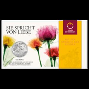 10 Euro Silber 2021 Die Rose Hgh Blister