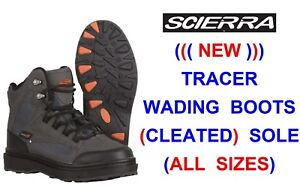 Scierra Tracer Fly Fishing Wading Boots Light Strong Felt Sole