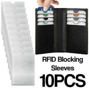 10-X-RFID-Blocking-Sleeve-Credit-Card-Protector-Bank-Card-Holder-For-Wallets