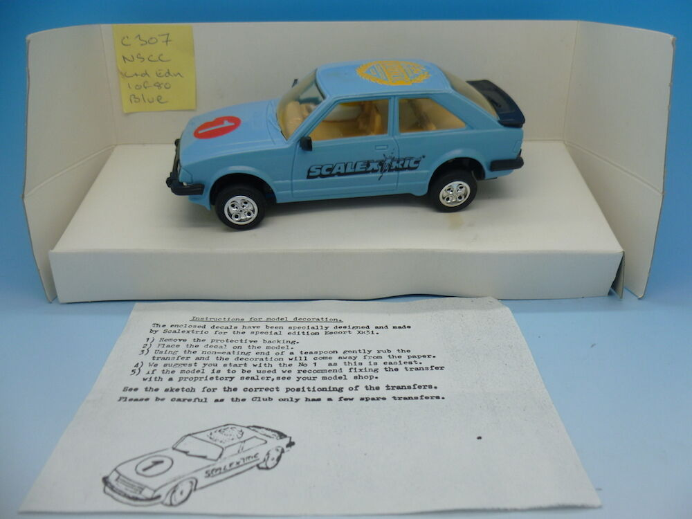 Scalextric Very Rare NSCC Ford Escort limited edition of 80