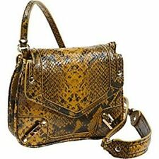 NWT Authentic Rebecca Minkoff Python May May Yellow Designer Handbags / $295