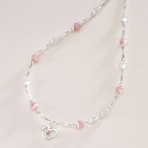 talla 40 fd6e7 00120 Detalles de Niña Collar con Corazón Colgante Rosa y Blanco, Otro Colores.  Bisutería Niñas
