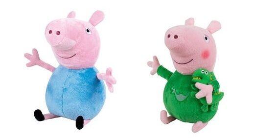 Peppa Pig 2 peluches 45 cm soft plush peluche George douce à l'unité ou en lot