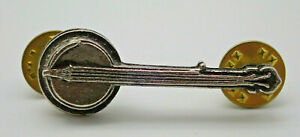 Banjo Pewter cast Vintage Lapel Pin