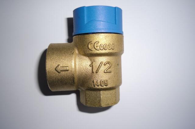 """Messing Membran Sicherheitsventil Überdruckventil Trinkwasser 1/2"""" x 3/4"""" 6bar"""