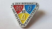 DDR Abzeichen - Tag des Bergmanns und des Energiearbeiters 1983 - DDR