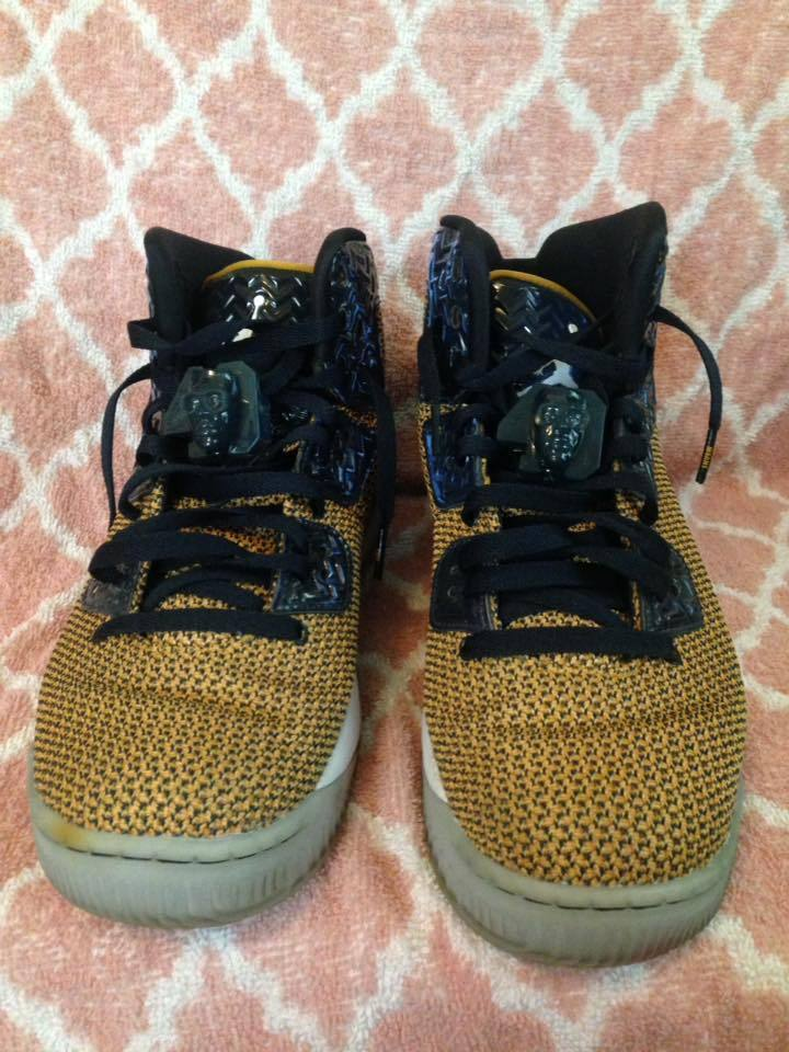 Nike Air Jordan Spike 40 Forty Spike Lee Dunk From Above Gold Leaf Mens SZ 10.5