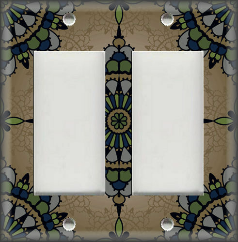 Home Decor Decorative Tile Design Brown Metal Light Switch Plate Cover