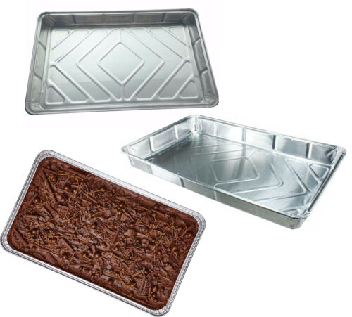 """Foil Baking Trays Large Tray Bake Containers Aluminium Disposable 12/"""" x 8/"""" BF055"""