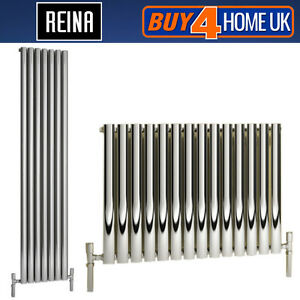 Reina-Neva-Steel-Designer-Chrome-Single-Panel-Radiators-Horizontal-amp-Vertical