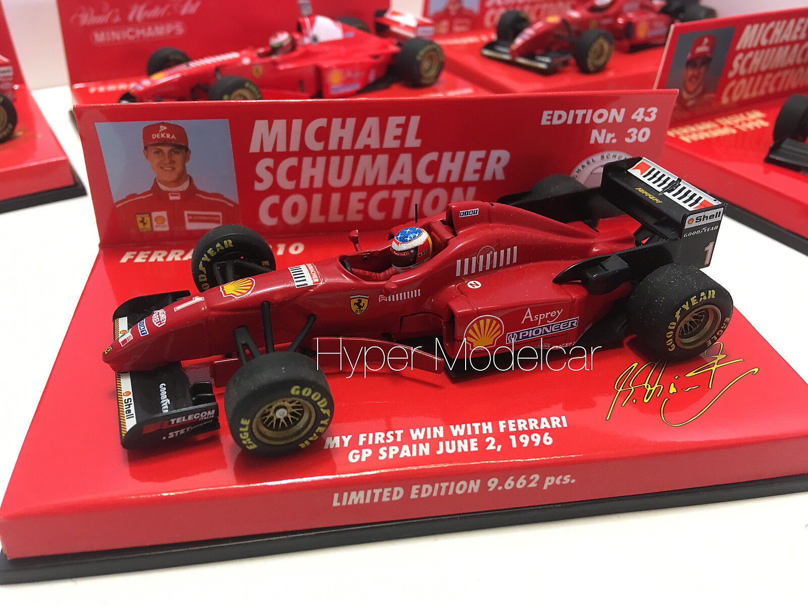 Minichamps 1 43 F1 Ferrari F310  1 Win Gp Spain 1996 M. Schumacher Art 510964311