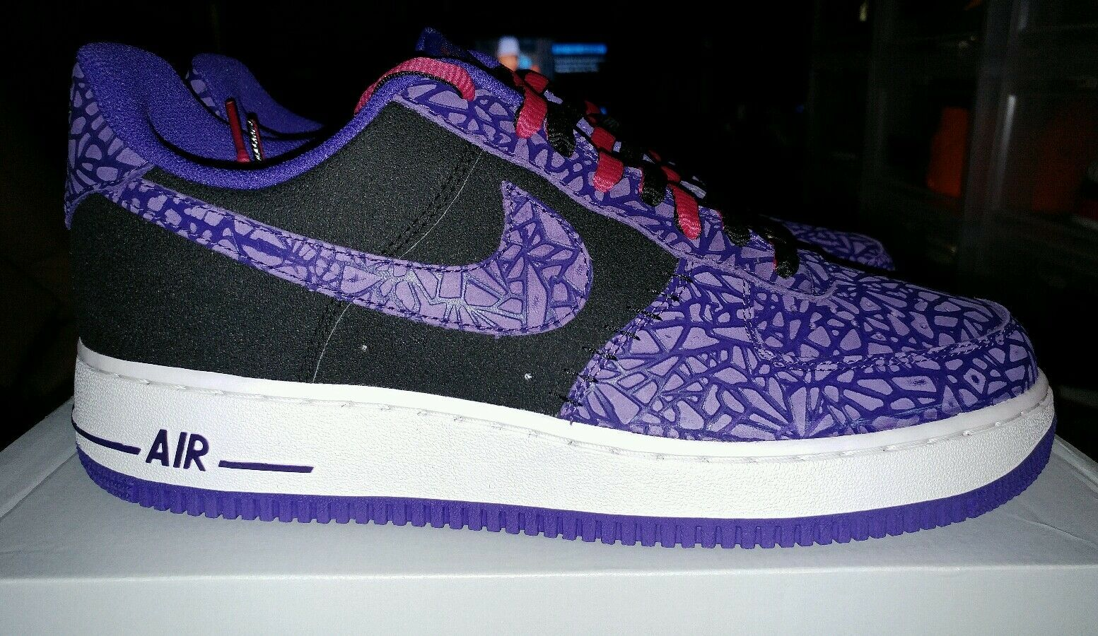 Nike Air Force 1,2013 Rare, Black / Court Purple, 488298 025, Size 10